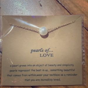 """pearls of...LOVE "" pearl fashion jewelry necklace"